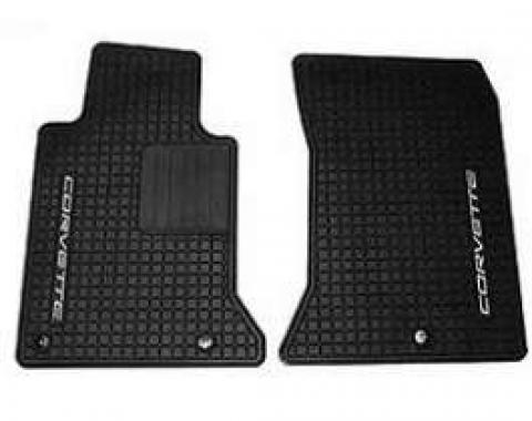Corvette Floor Mats, C5 Custom Vinyl, Graphite, 1997-2004