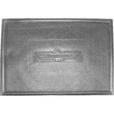 Floor Mat, Rubber, Thunderbird Logo In The Center, 17 x 12
