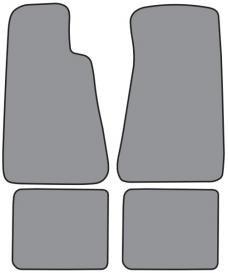 ACC  Chevrolet Impala Floor Mat without Snaps 4pc (FM89F FM89R) Cutpile, 1994-1996