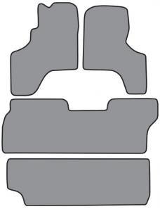 ACC  Toyota Previa Floor Mat 4pc (FM150 FM150A FM150B) Cutpile, 1994-1997