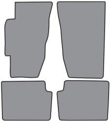 ACC  Honda Accord Floor Mat 4pc (FM72 FM72R) Cutpile, 1994-1997