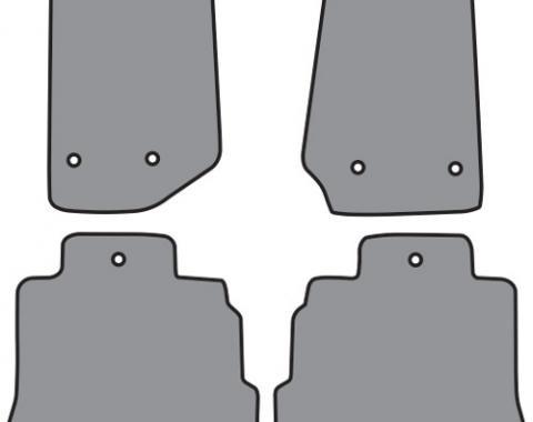 ACC  Jeep Wrangler Unlimited Floor Mat 4pc (P639 P639R) Cutpile, 2011-2013