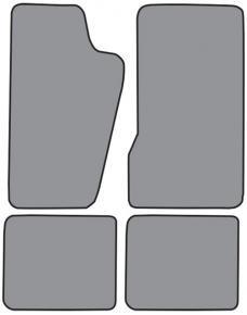 ACC  Jeep Wagoneer Floor Mat 4pc (FM34F FM18R) Cutpile, 1984-1990