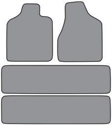 ACC  Dodge Caravan Floor Mat 4pc (FM86 FM86R) Cutpile, 1996-2000