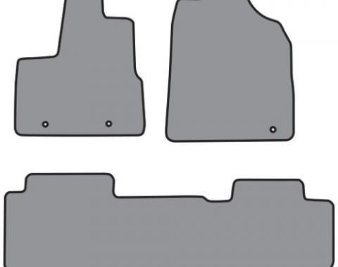 ACC  Honda Pilot 2pc Frts & 1pc Rr Floor Mat (P646 P503R) Cutpile, 2003-2005
