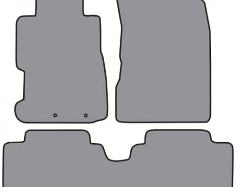 ACC  Honda Civic 4DR Sedan 2pc Frts & 1pc Rr Floor Mat (P30 P30R) Cutpile, 2001-2005