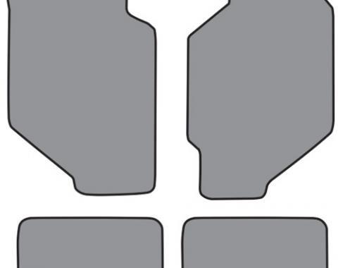 ACC  Honda Civic 4DR Wagon Floor Mat 4pc (HO307F HO307R) Cutpile, 1988-1991
