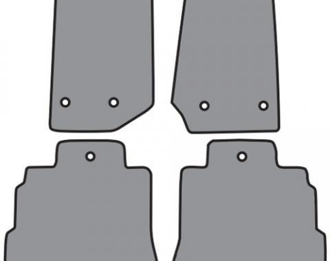ACC  Jeep Wrangler Unlimited JK Floor Mat 4DR 4pc (FM382 FM382R) Cutpile, 2014-2018