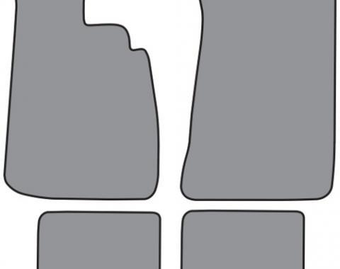 ACC  BMW 2002 Floor Mat 4pc (FM52F FM18R) Cutpile, 1966-1976