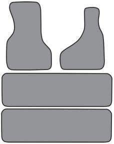 ACC  GMC Safari 2pc Frts & 2pc Rr Runners Floor Mat 4pc (FM155 FM155R) Cutpile, 1985-2000