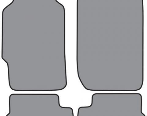 ACC  Honda Prelude Floor Mat 4pc (H666 H666R) Cutpile, 1988-1991