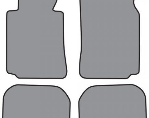 ACC  BMW 750iL Floor Mat 4pc (A5323 A5323R) Cutpile, 1995-2001