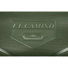 Legendary El Camino Floor Mats, Vintage Rubber,With El Camino Block Letters And Bowtie Emblem, Black, Show Correct, 1964-1967