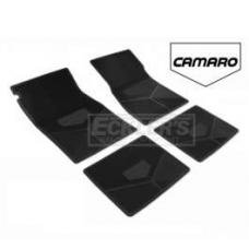 Camaro Rubber Floor Mats, With Block Camaro Script, 1985-1992