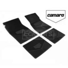 Camaro Rubber Floor Mats, With Block Camaro Script, 1978-1981