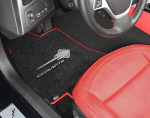 Chevrolet Corvette Floor Mat with Heel Pad 2pc (FM78W/HEEL) Truvette, Oak (91), 1998-2004