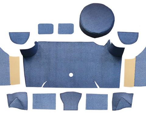 ACC  Ford Mustang Fastback Trunk Kit with Boards Trunk Mat Nylon, 1967-1968