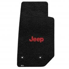 Lloyd Mats 2014-2019 Jeep Wrangler Jeep Wrangler 2014-on 2 Piece Front Black Ultimat Red Jeep Logo 600063