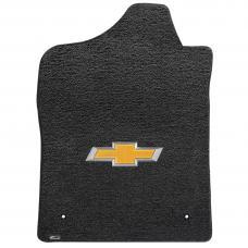 Lloyd Mats 2007-2013 Chevrolet Silverado 1500 Silverado Std Cab 2007-2013 2 Piece Front Ebony Ultimat Gold Bowtie Logo 600044