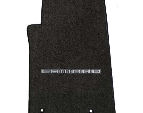 Lloyd Mats 2010-2015 Chevrolet Camaro Camaro 2010-on 2 Piece Mats Ebony Velourtex Camaro Logo 620001