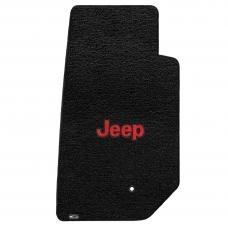 Lloyd Mats 2007-2013 Jeep Wrangler Jeep Wrangler 2007-2013 2 Piece Front Black Ultimat Red Jeep Logo 600062