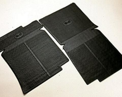 Corvette Rubber Floor Mats, Black, 1968-1982