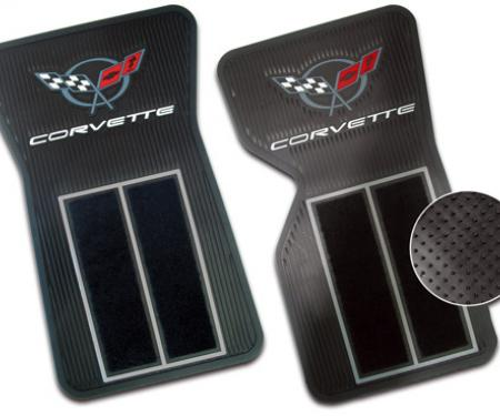 Corvette Rubber/Carpet Floor Mats, 1968-1982