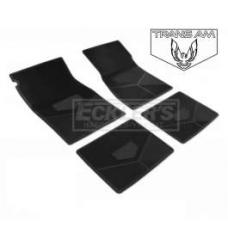 Trans Am Rubber Floor Mats, With Block Trans Am Script And Bird Emblem, 1985-1992