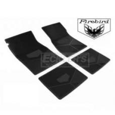 Firebird Rubber Floor Mats, With Block Firebird Script And Bird Emblem, 1975-1981