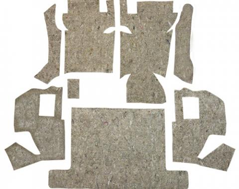 ACC  Chevrolet Corvette Complete Pad Kit Jute Carpet, 1968-1977