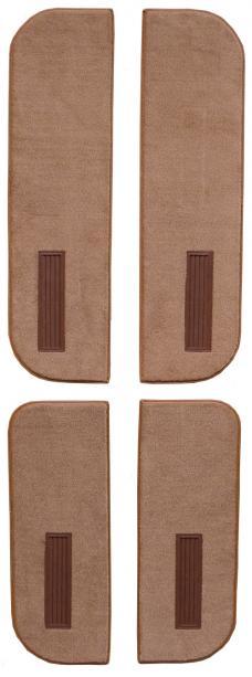 ACC  Chevrolet C10 Suburban Door Panel Inserts on Cardboard w/Vents 4pc Cutpile Carpet, 1974-1986